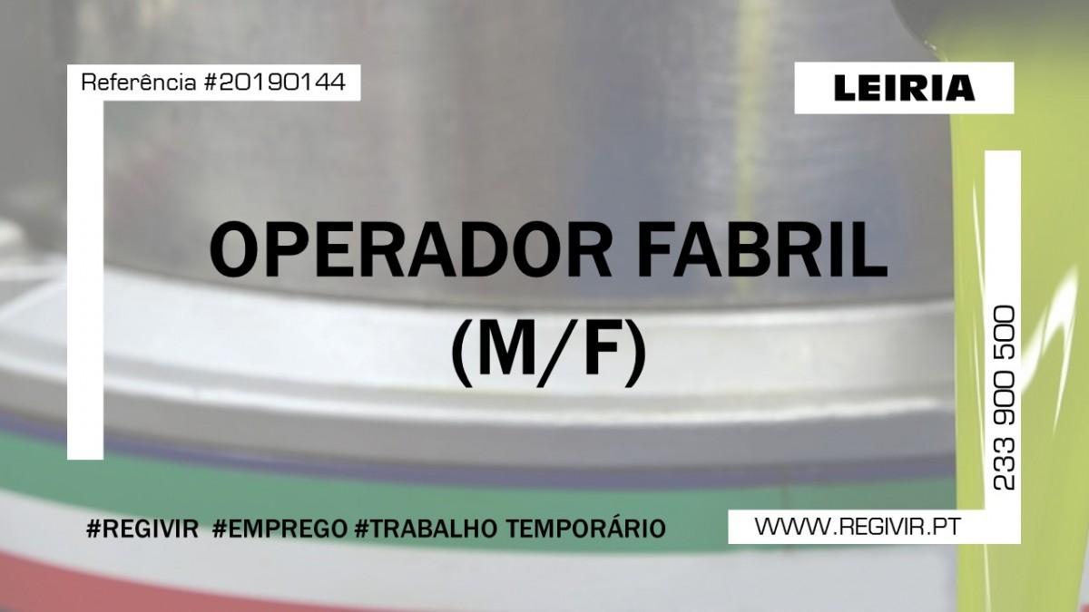 20190144 Operador Fabril Leiria