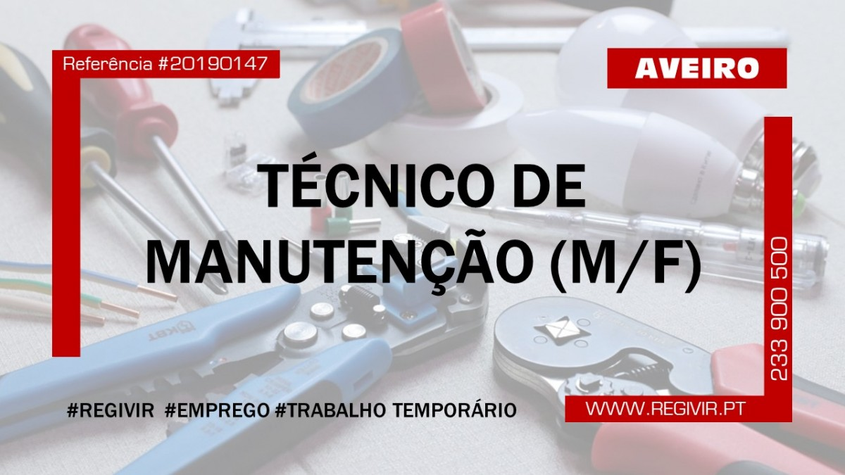 20190147 Tecnico de Manutenção Aveiro