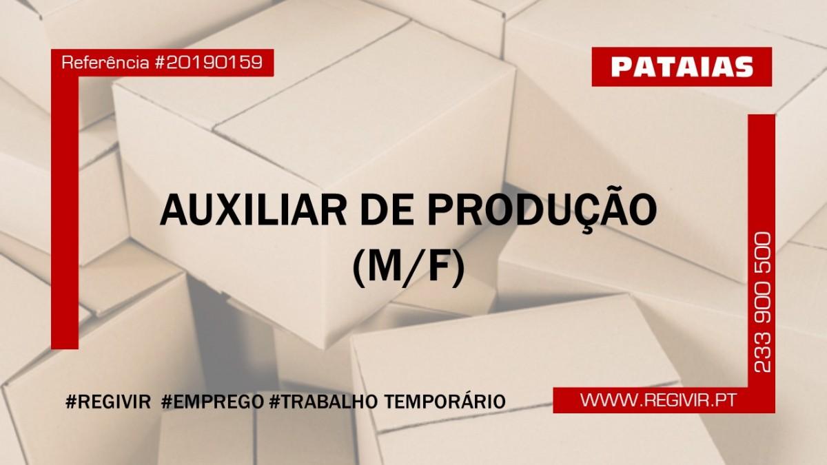 20190159 - Auxiliar de Produção Pataias