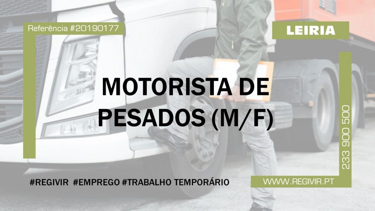 20190177 - Motorista de Pesados