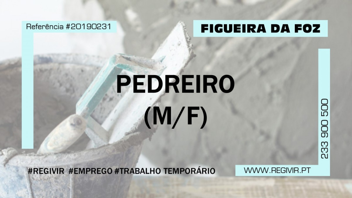 20190231 - Pedreiro