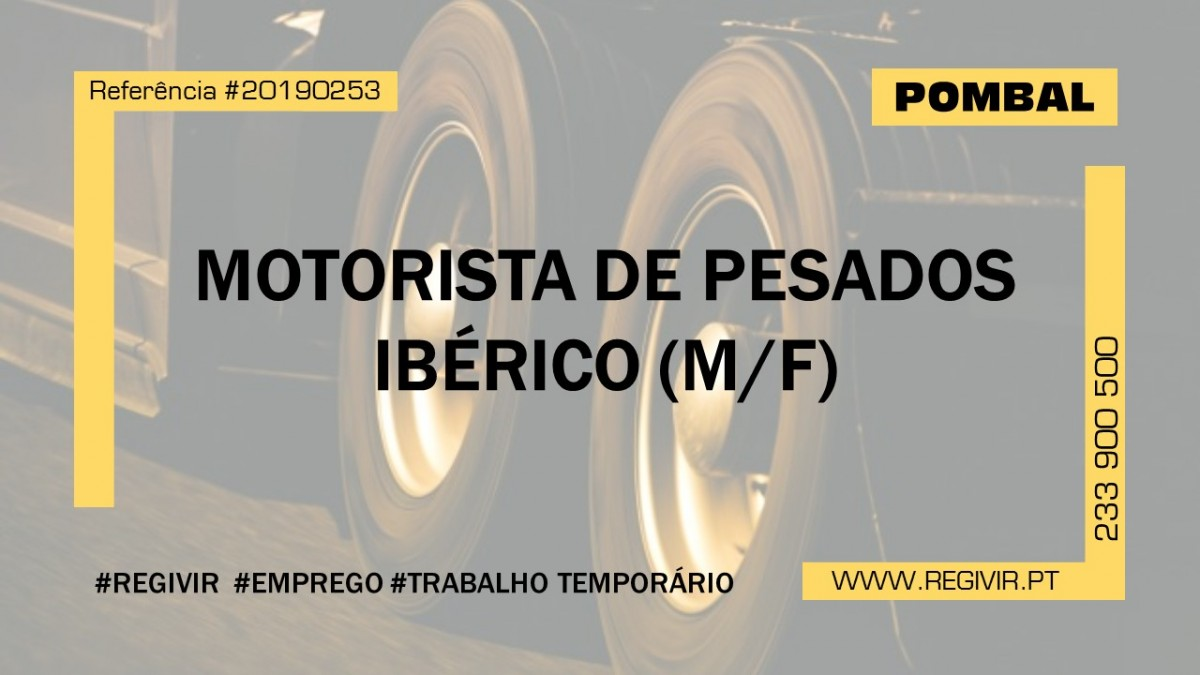 20190253 - Motorista de Pesados Iberico